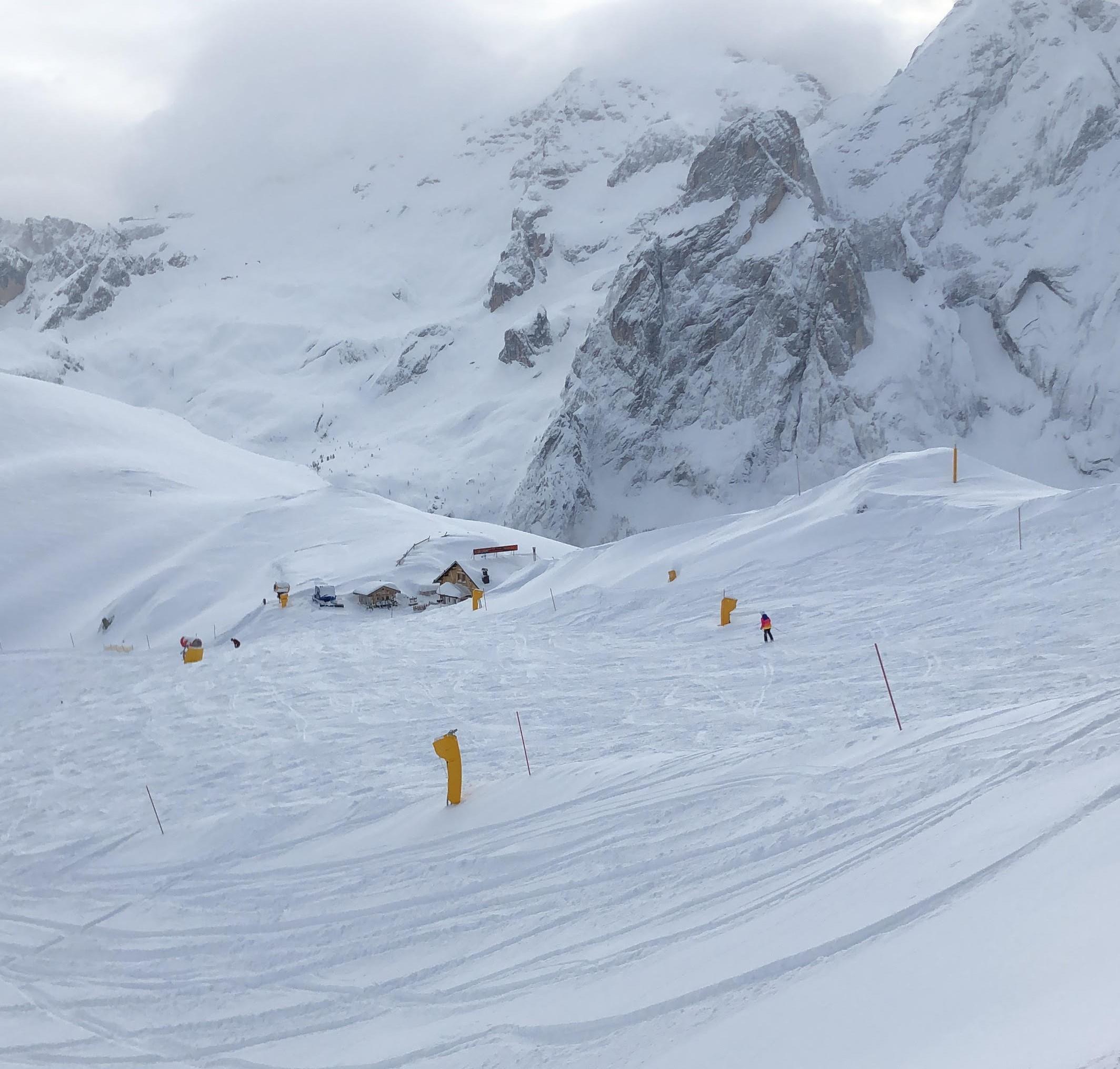 Arabba in Südtirol mit traumhaften Neuschnee